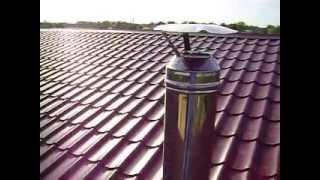 Как закрепить  трубу вентиляции на крыше(В этом видео показано как я закрепил трубу вентиляции к балкам перекрытия и на кровле, чтобы ее не сломало..., 2015-06-14T20:26:15.000Z)