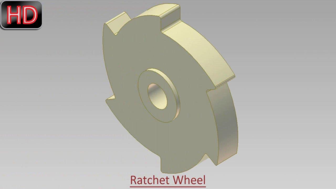 Ratchet Wheel (Video Tutorial) Autodesk Inventor