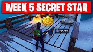 Fortnite SECRET BATTLE STAR WEEK 5 SEASON 7 LOCATION! (Fortnite Battle Royale) WEEK 5 SECRET STAR
