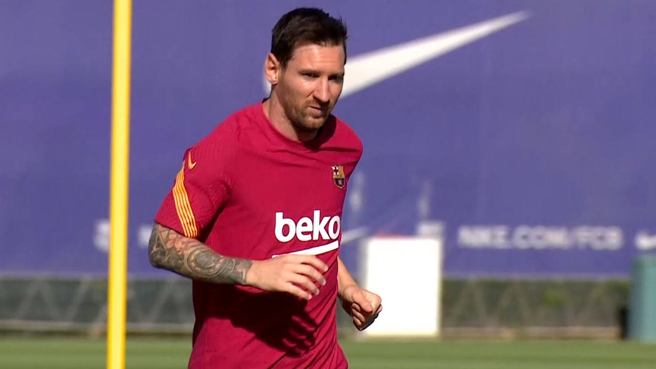 Messi Trains Alone As He Returns To Barcelona For First Time Since Deciding To Stay