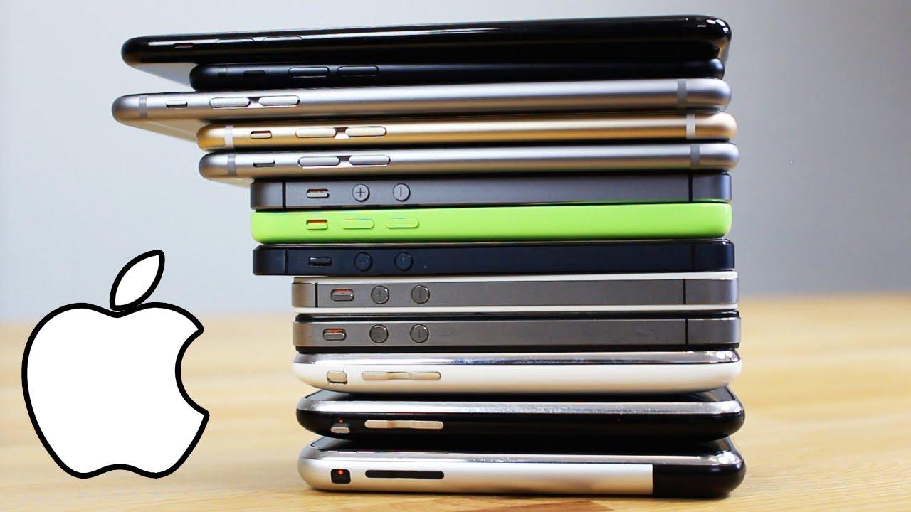 tous les iphone depuis 2007 youtube