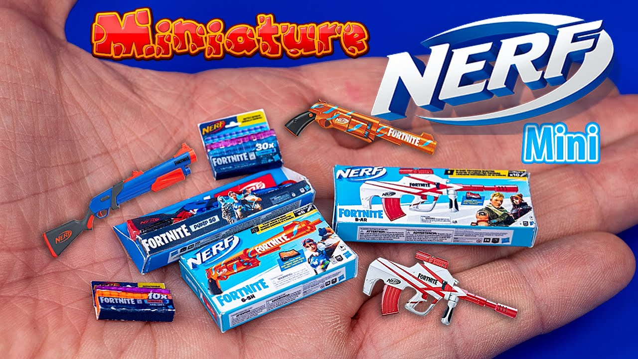 NERF Fortnite Guns How to make DollHouse for Barbie CRAFTS and HACKS