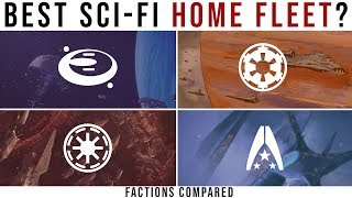 Which Sci-Fi Faction has the BEST HOME FLEET? | Factions Compared: Halo, Mass Effect, Star Wars