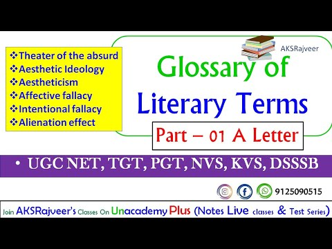 Glossary Of Literary Terms By M. H. Abraham UGC NET SET TGT PGT DSSSB KVS NVS PSC