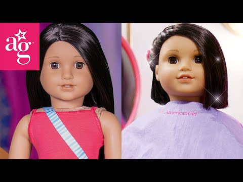 Trendy Haircut Makeover At The Doll Salon | Dolled Up With American Girl | American Girl