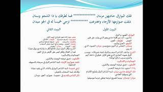 شرح قصيدة في الحنين إلى عمان الجزء الأول