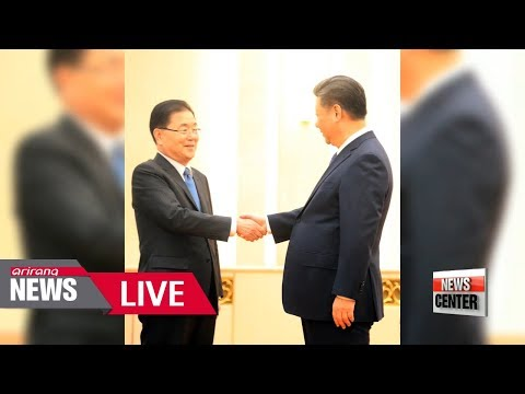 """[LIVE/NEWSCENTER] S. Korean Pres. Moon says """"fate of Korean Peninsula hangs on next two months"""""""