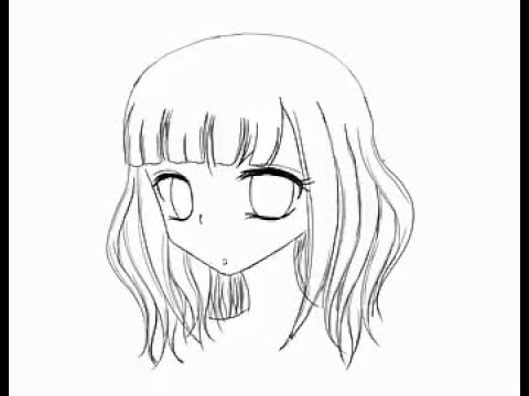 draw curly wavy anime hair