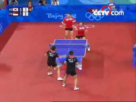 Li JW, Wang YG vs Kim KA, Park MY (2008 Olympics)