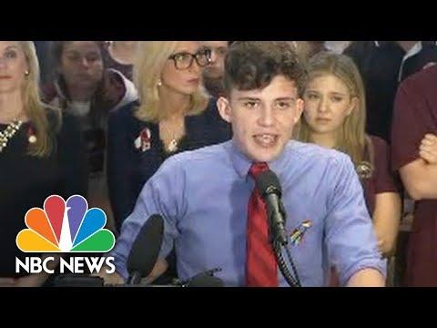 Stoneman Douglas Students Protest Gun Laws At Florida Capitol   NBC News