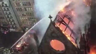 Fire destroys historic church in NYC