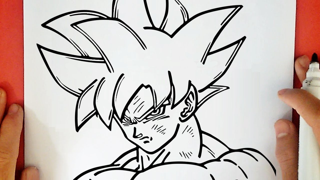 How To Draw Goku Ultra Instinct From Dragon Ball Super Youtube