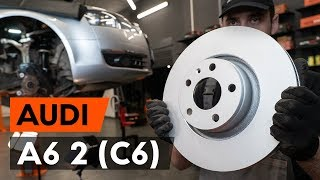 AUDI A6 (4F2, C6) Scheibenbremsen gelocht auswechseln - Video-Anleitungen