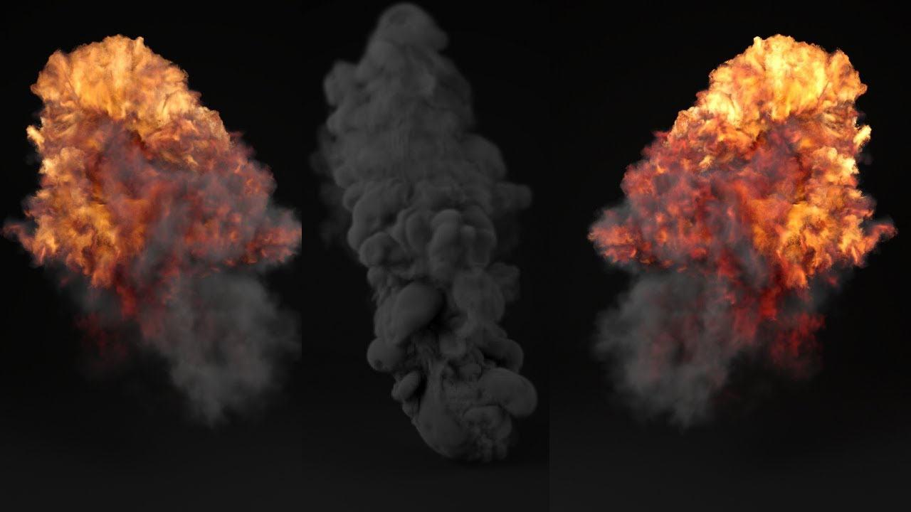 Tutorial No.62 : Rendering Realistic Explosion And Smoke