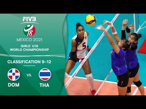 LIVE 🔴 DOM vs. THA - Class. 9-12 | Girls U18 Volleyball World Champs 2021