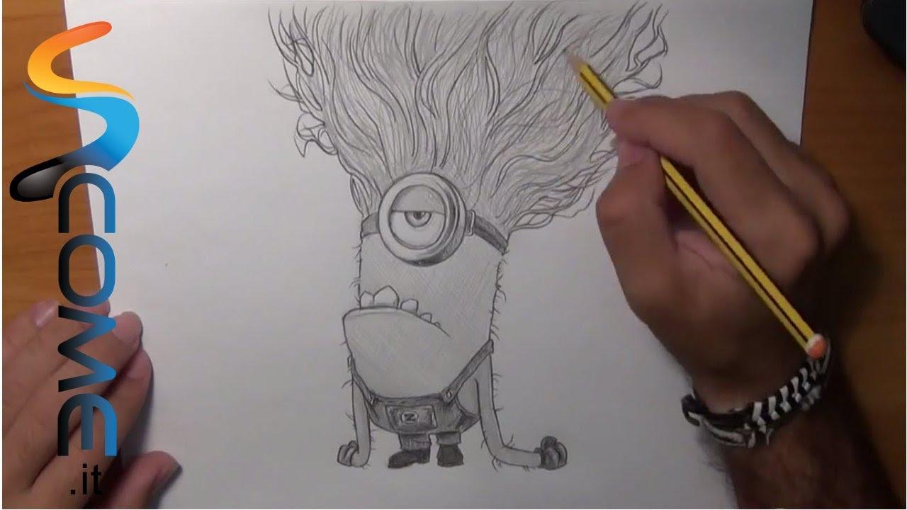 Disegna il minions viola di cattivissimo me youtube for Minions immagini da colorare