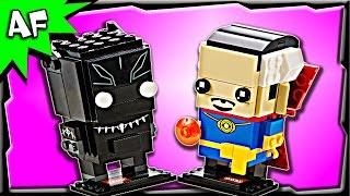 Lego Marvel BRICKHEADZ Black Panther & Doctor Strange 41493 Stop Motion Build Review