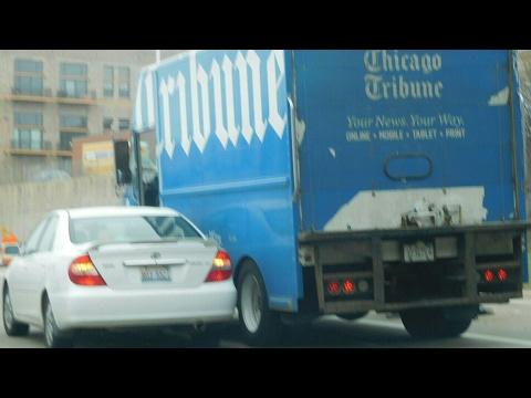 CHICAGO TRIBUNE TRUCK GOT IN ACCIDENT  PART 1
