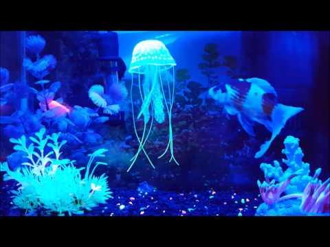 Aquarium Decor: Small Jellyfish Ornament  2-Pack