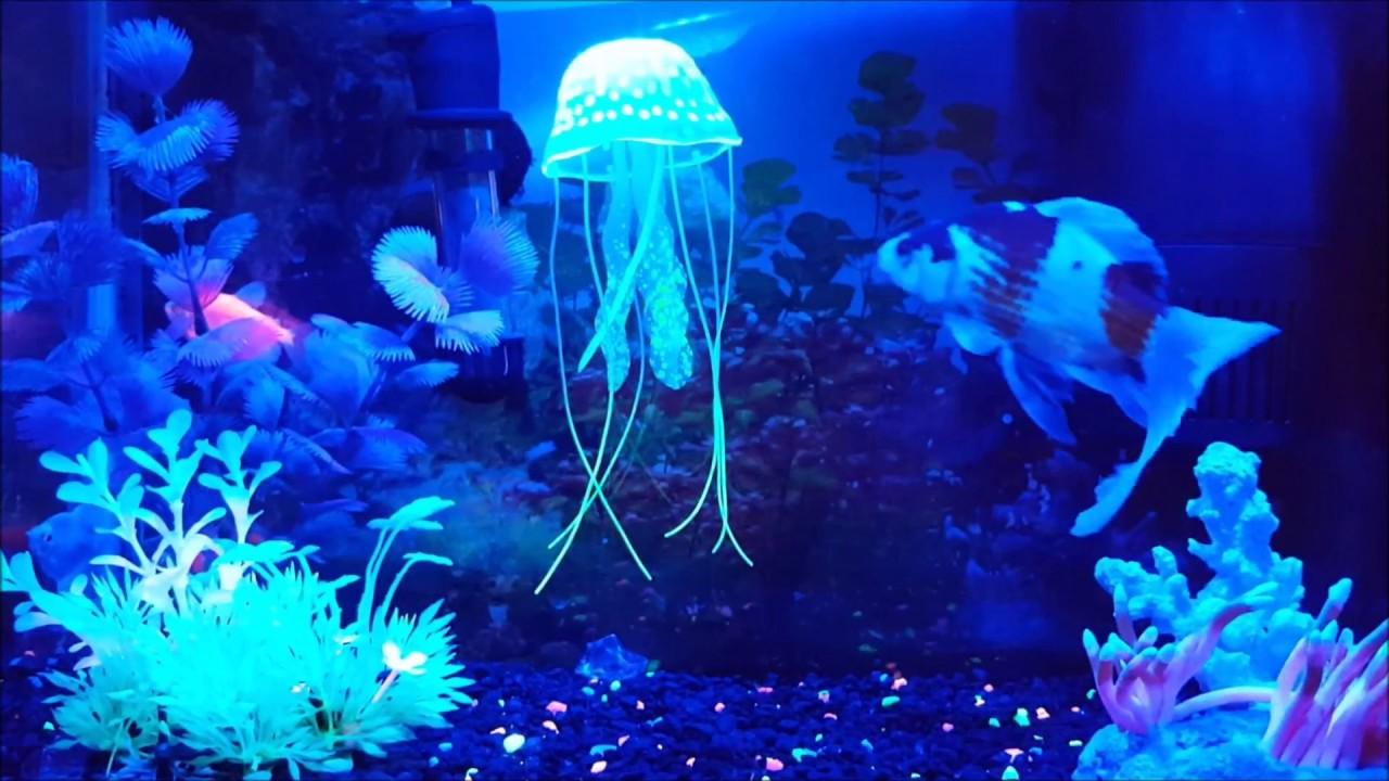 Aquarium Decor Small Jellyfish Ornament 2 Pack