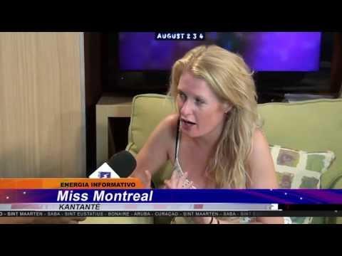 Miss Montreal bij EnergiaVision op Bonaire (2 augustus 2013)
