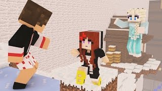 A ELSA ME ODEIA ;-; - PARKOUR LUCKY BLOCK PVP #14 | Minecraft