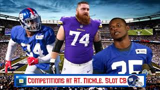 New York Giants Position Competitions | 2019 Season