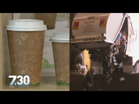 Takeaway coffee cups piling up in landfill as Australia's