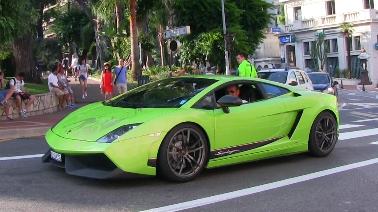 Beautifull Green Lamborghini Gallardo Superleggera In Monaco Wing