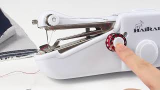 How to use / operate Handheld Sewing Machine -HAITRAL thumbnail