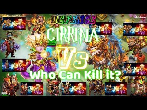 DEFENCE Cirrina Invincible[ Who Can Kill Her ]- Castle Clash