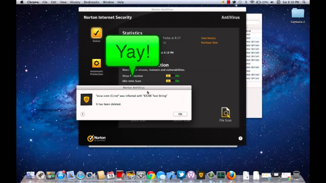 Mac App Review - Norton Internet Security For Mac + virus test