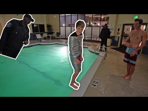TRY NOT TO DROWN DUCT TAPE CHALLENGE!! *security*