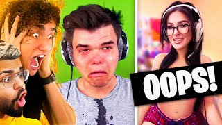 Reacting To YOUTUBERS who forgot their CAMERA WAS ON! (Jelly, SSSniperWolf, Pokimane)