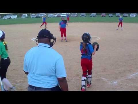 12u fastpitch softball Ohio Lady Bombers 02 vs Diamond Dogs '01 & '02
