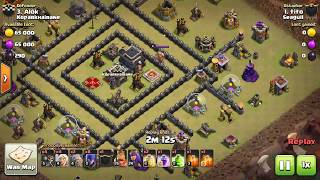 Clash of clans[Th9 attack Strategy] Witch slap - anti 2 star war base by #Tito