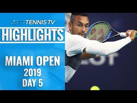 Djokovic Advances; Kyrgios Entertains The Miami Crowd | Miami Open 2019 Day 5 Highlights