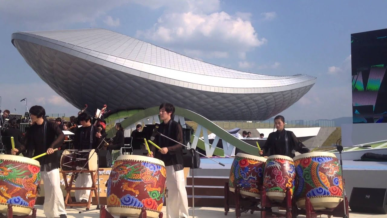 Asymptote's ARC ( River Culture ) Multimedia Theater and Exhibition Hall Opening, Daegu S. Korea