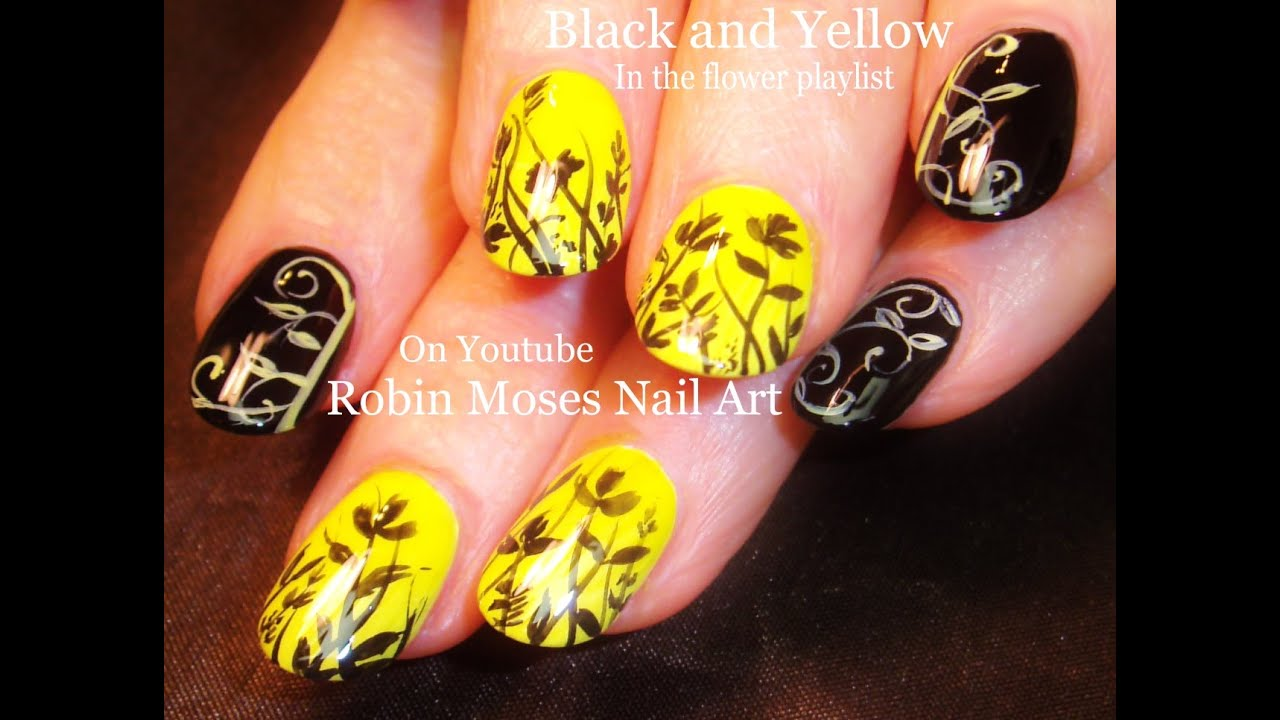 DIY Flower and Filigree Nail Art Design Tutorial - YouTube