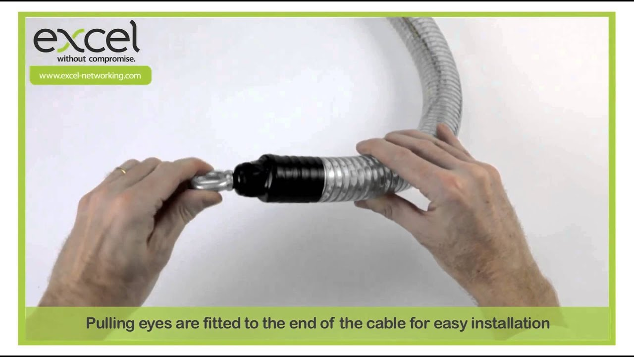 Fibre Cable from Excel - The pulling sock - YouTube