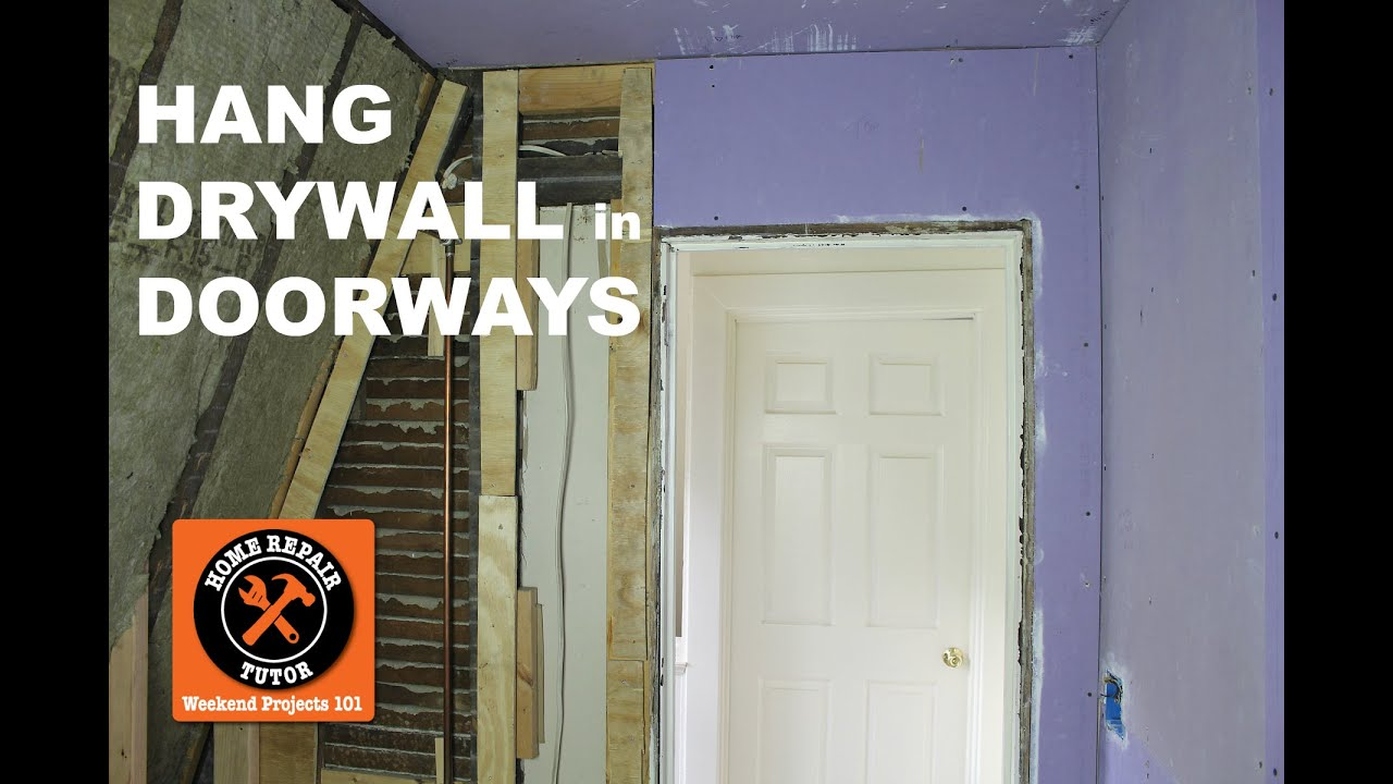 Charmant How To Hang Drywall...Tips For Bathroom Doorways (Step By Step)    By Home  Repair Tutor