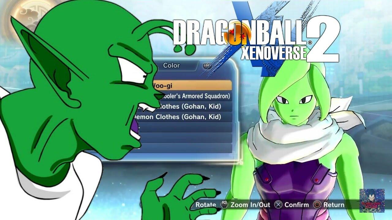 How To Create A Namekian Hoe   Dragon Ball XenoVerse 2 - YouTube