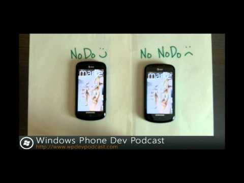 AT&T Samsung Focus Running NoDo -- Comparison