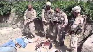 US Marines Urinate on Taliban Corpses after they have been killed COMFIRMED REAL