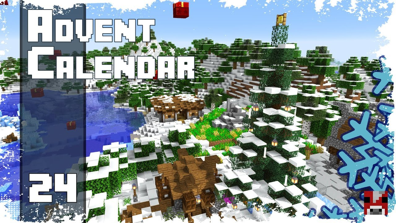 Christmas Minecraft World.Minecraft Timelapse Advent Calendar 24 Merry Christmas World Download