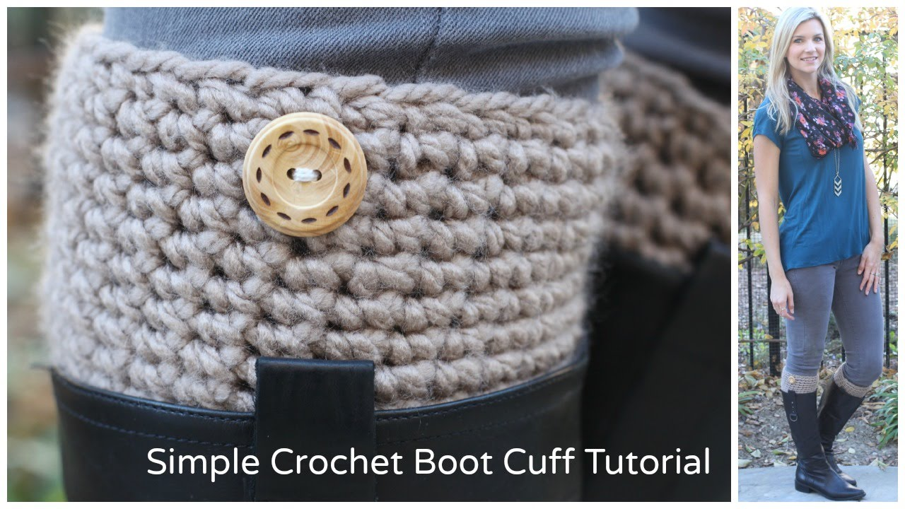 Simple Crochet Boot Cuff Tutorial Youtube