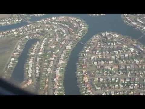 Baixar Beautiful suburb approach into Buenos Aires Jorge Newbery Airport - May 15, 2015