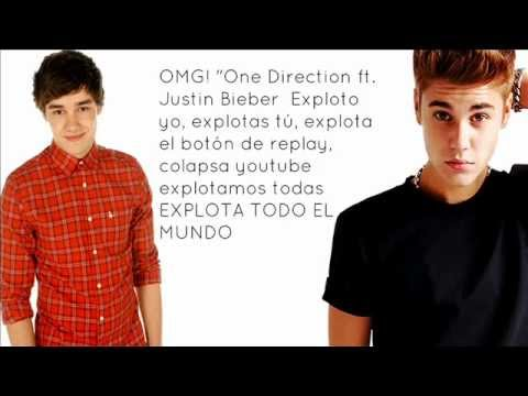 One Direction ft. Justin Bieber - Beauty And A Beat with Live While We're Young (Lyrics)
