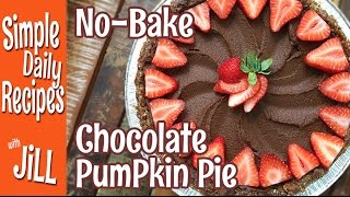 No-bake Chocolate Pumpkin Pie From Plantpure Nation
