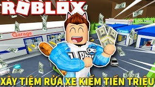Roblox | CONSTRUCTION Of The STORE To The OTHER Cars MAKE MONEY LAUNDERING MILLION-Car Wash Tycoon | Kia Breaking